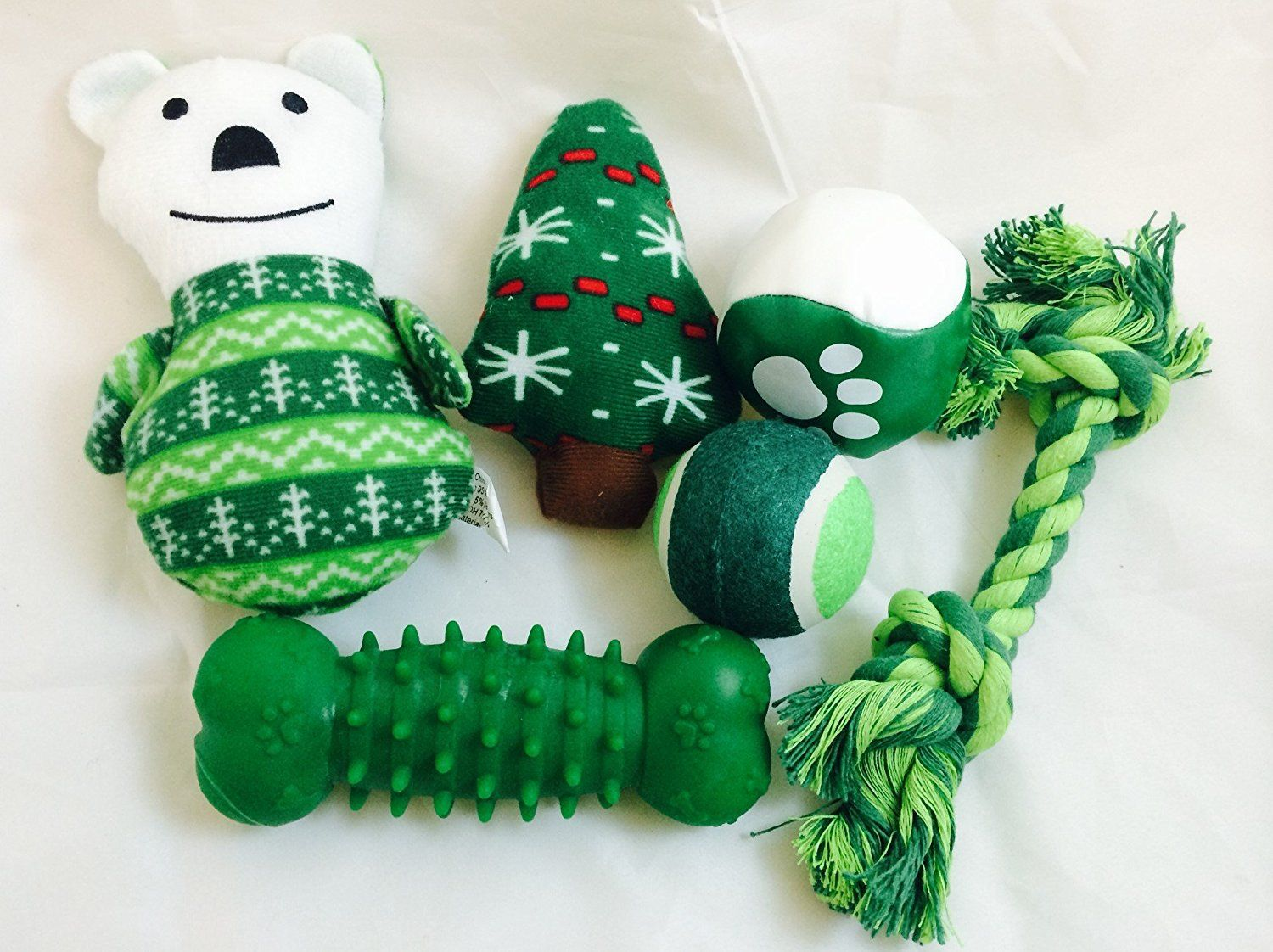 Chritsmas 6 piece toy stocking green check out the