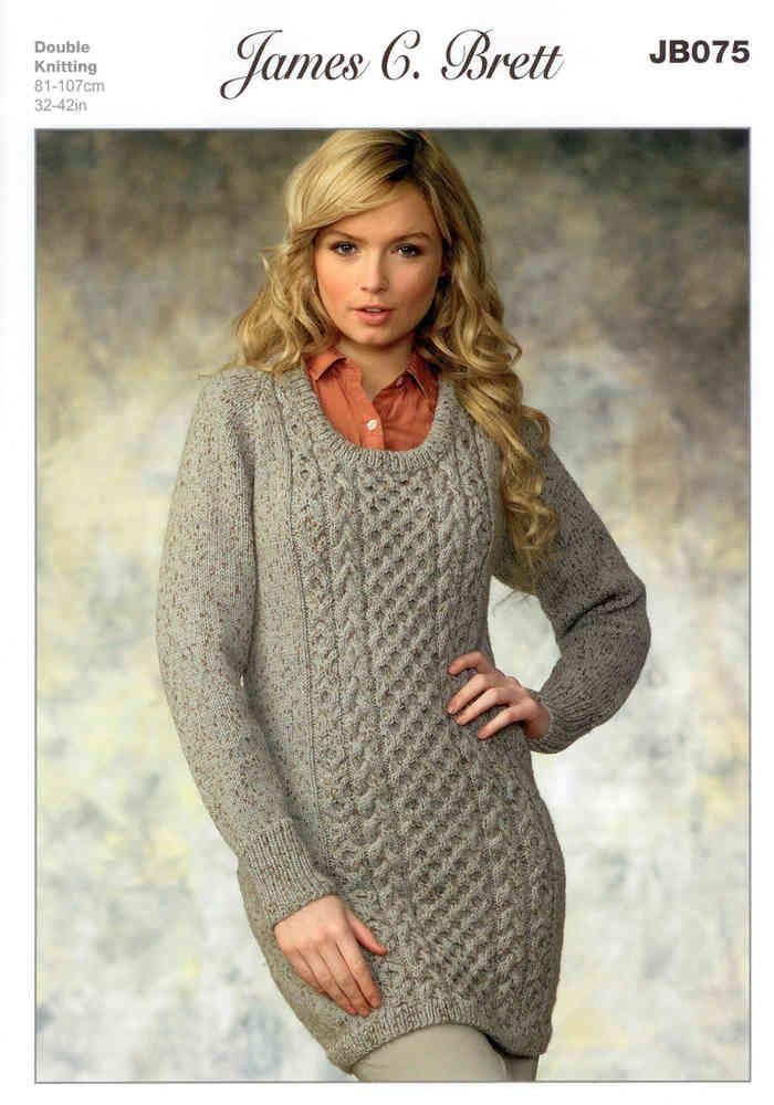 Ladies Sweater Jb075 Knitting Pattern James C Brett Knitting