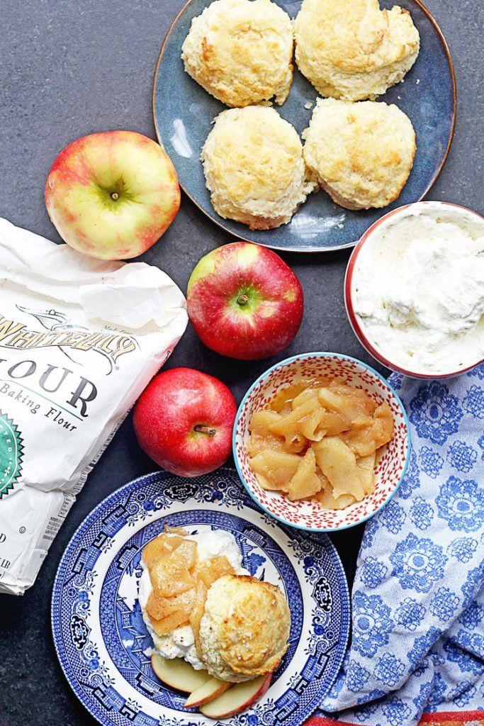Brown Sugar Biscuit Apple Shortcakes images