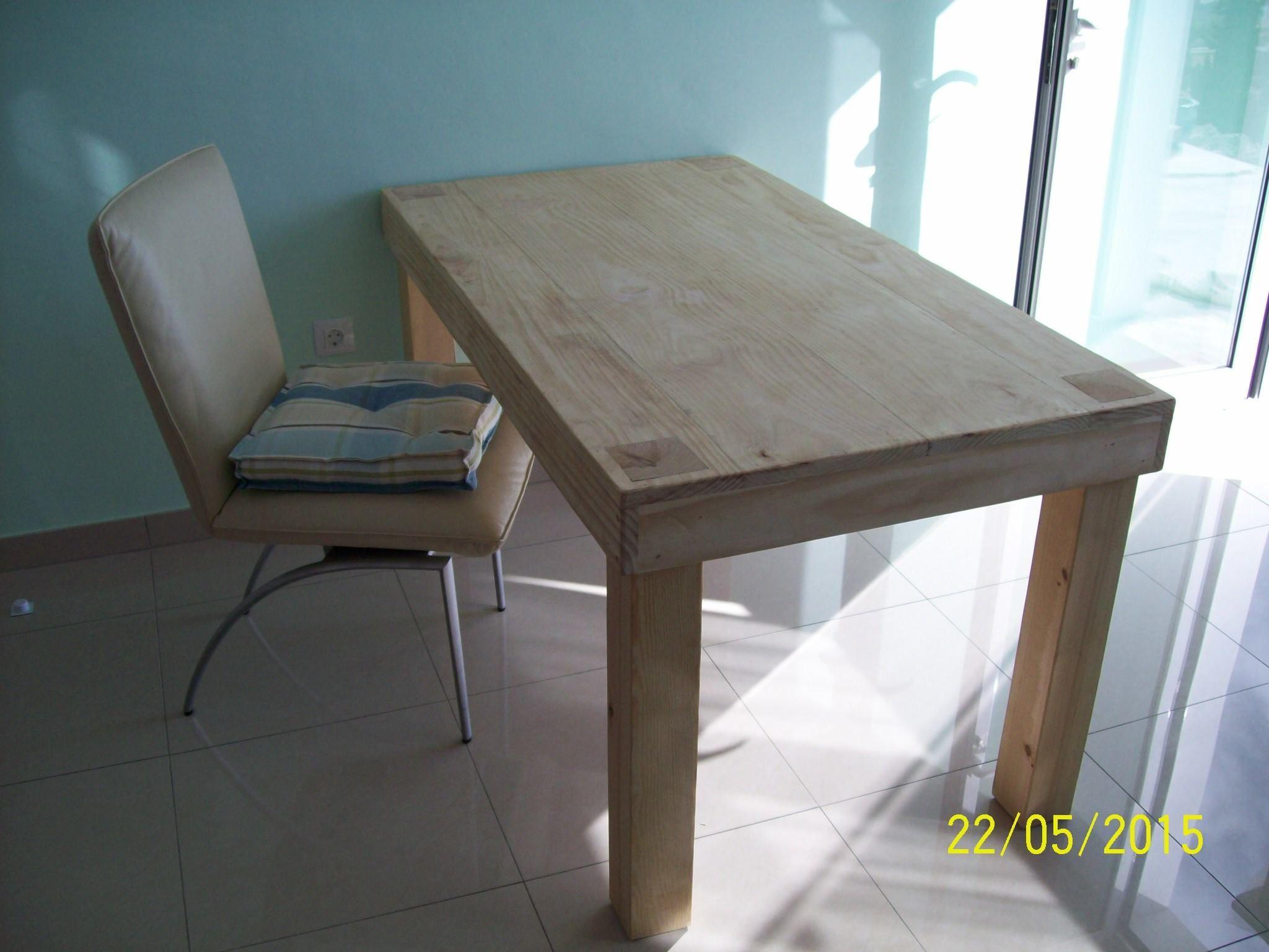 Mesa para despacho con las patas que se ven desde el tablon de la ...