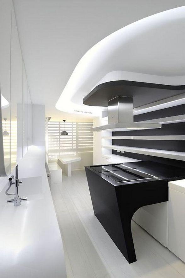 sci fi apt | architecture modern | pinterest | home design ... - Weisse Wohnung Futuristisch Innendesign