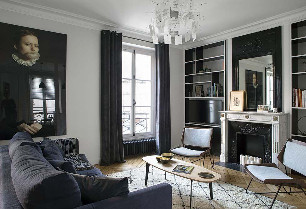 caroline desert paris apartment 6th furniture furnishings i 2018 pinterest inspiration. Black Bedroom Furniture Sets. Home Design Ideas