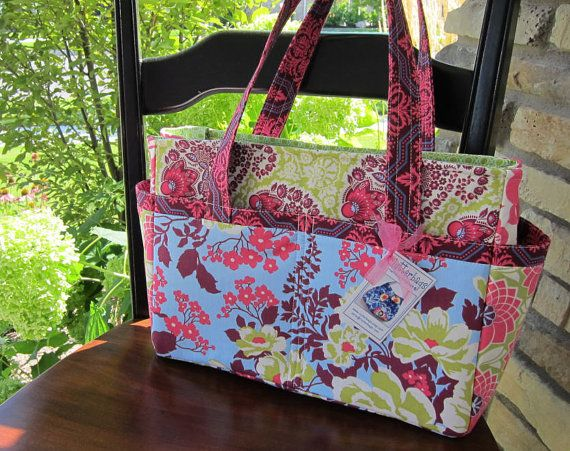 Diaper Bag Tote - Purse - Hadley Large Patchwork - Baby Bag - With Stroller Straps - 14 Pockets - Heirloom.. $97.00, via Etsy.