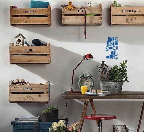 Kistjes Aan De Muur.Industrieel Kistjes Aan De Muur Cool Spaces Schuur