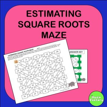 Estimating Square Roots Maze Activity | Square Roots, Maze And