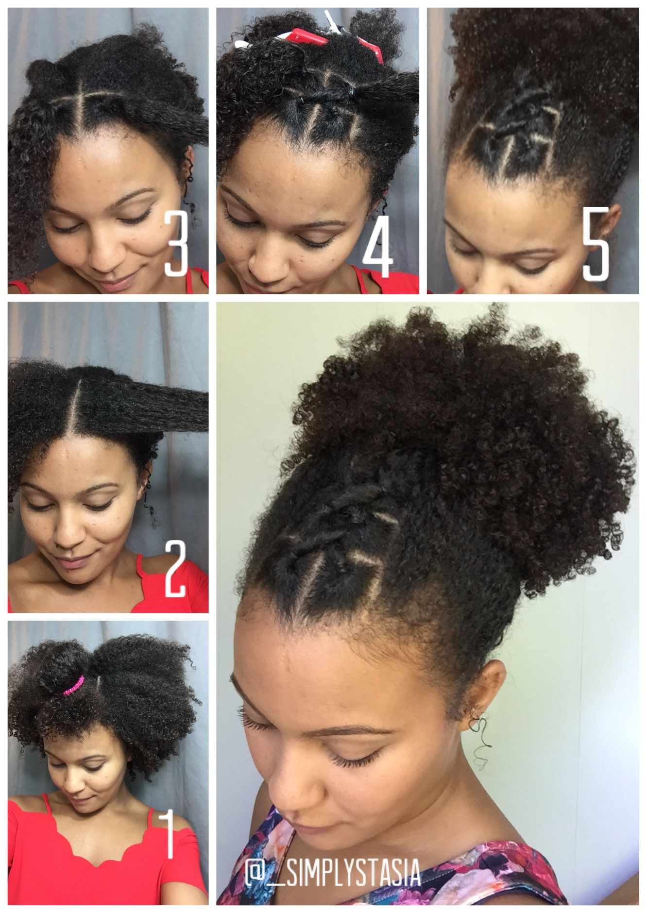 Quick Style For An Old Wash And Go Or Twist Out Naturalhair Naturalhairtutori African American Braided Hairstyles Natural Hair Styles Natural Hair Tutorials