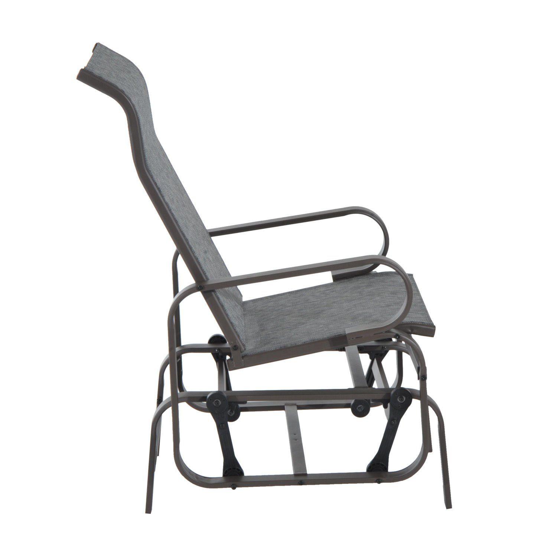 New patio porch glider bench swing sling chair rocker mesh outdoor