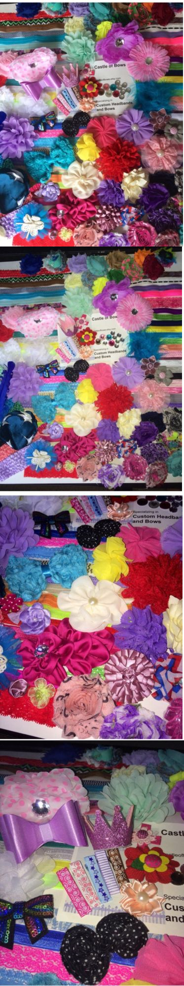 Hair Accessories 18786: Baby Shower Headband Kit - Jumbo Diy Hair-Bow And Headband Kit- Makes 45 Headbands -> BUY IT NOW ONLY: $45 on eBay!