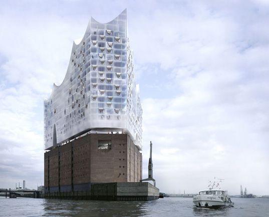 Herzog De Meuron Elbphilharmonie Concert Hall Hamburg Germany 2012 Architecture Visualization Architecture Rendering Building