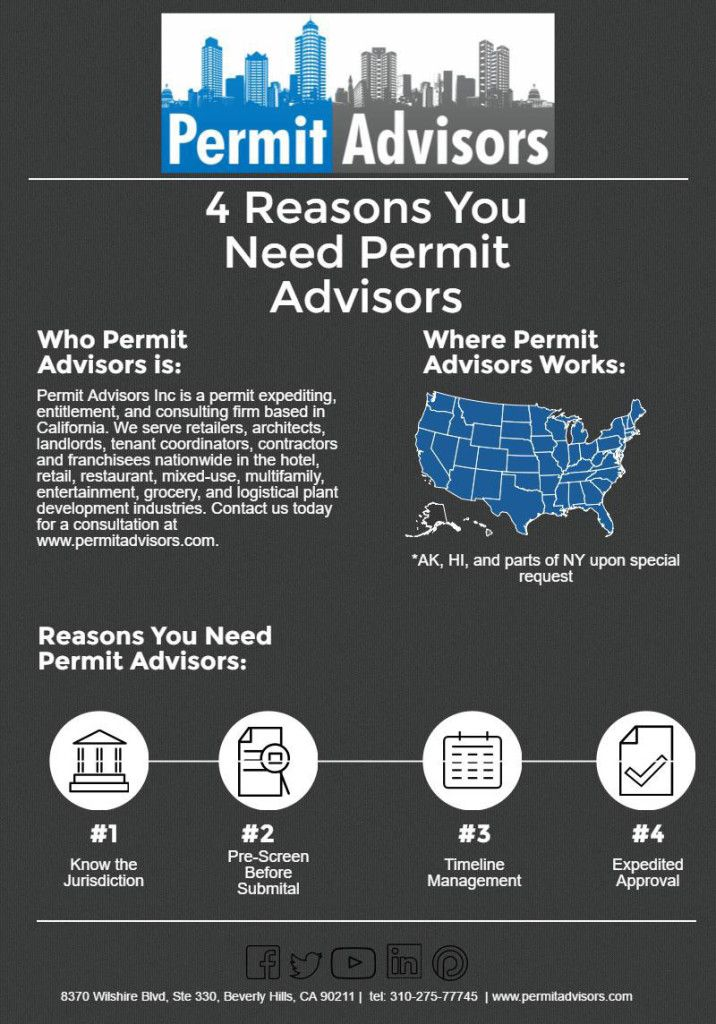 Permit Advisors Inc Is A Expediting Enlement And Consulting Firm We Serve Retailers Architects Landlords Nationwide
