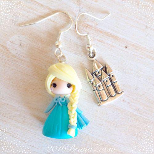 cerca l'originale codici promozionali 2019 professionista Details about Earrings Chibi Elsa ~ Cute Frozen Disney ...