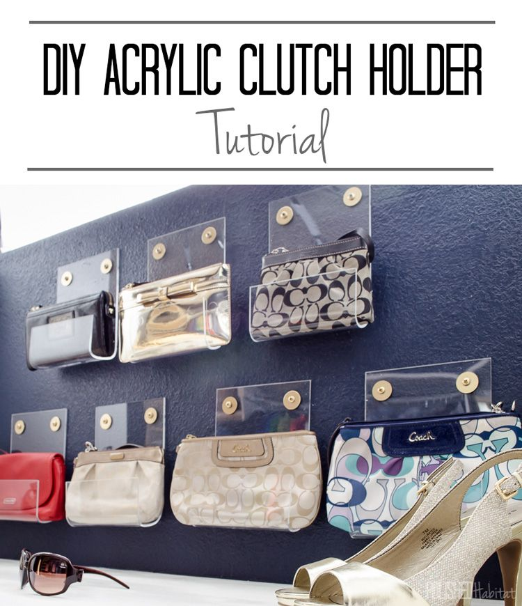 Organize Your Closet In Style With This Pretty Purse Storage. Can You  Believe These Acrylic