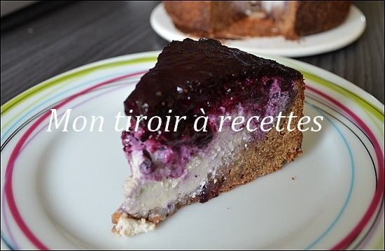 Cheesecake aux myrtilles | Dessert ! | Cheesecake ...