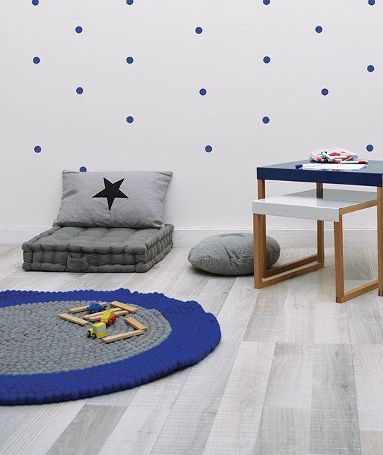 Alfombra de fieltro lilipinso azul y for Alfombra azul turquesa del dormitorio