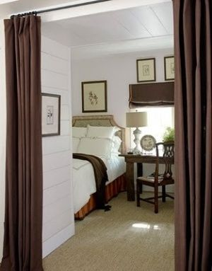 How To Curtains As Doors For A Spare Bedroom