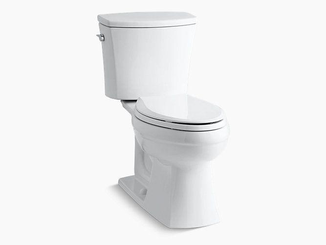 Kohler K 3755 Kelston Comfort Height 2 Piece Elongated 1 28 Gpf Toilet Kohler Contemporary Toilets Kohler Elongated Toilet Seat