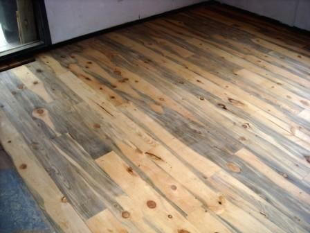 We Have Blue Pine Floors Like This. I Love Them. Soft Wood, Dents