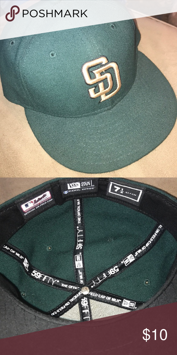 San Diego Padres Fitted Hat Size 7 1 4 Fitted Hats Hat Sizes San Diego Padres