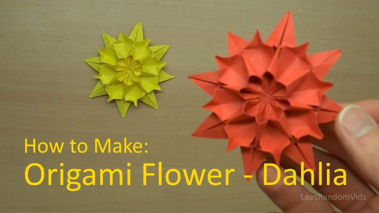 How To Make Origami Flower Dahlia Origami Flowers Pinterest