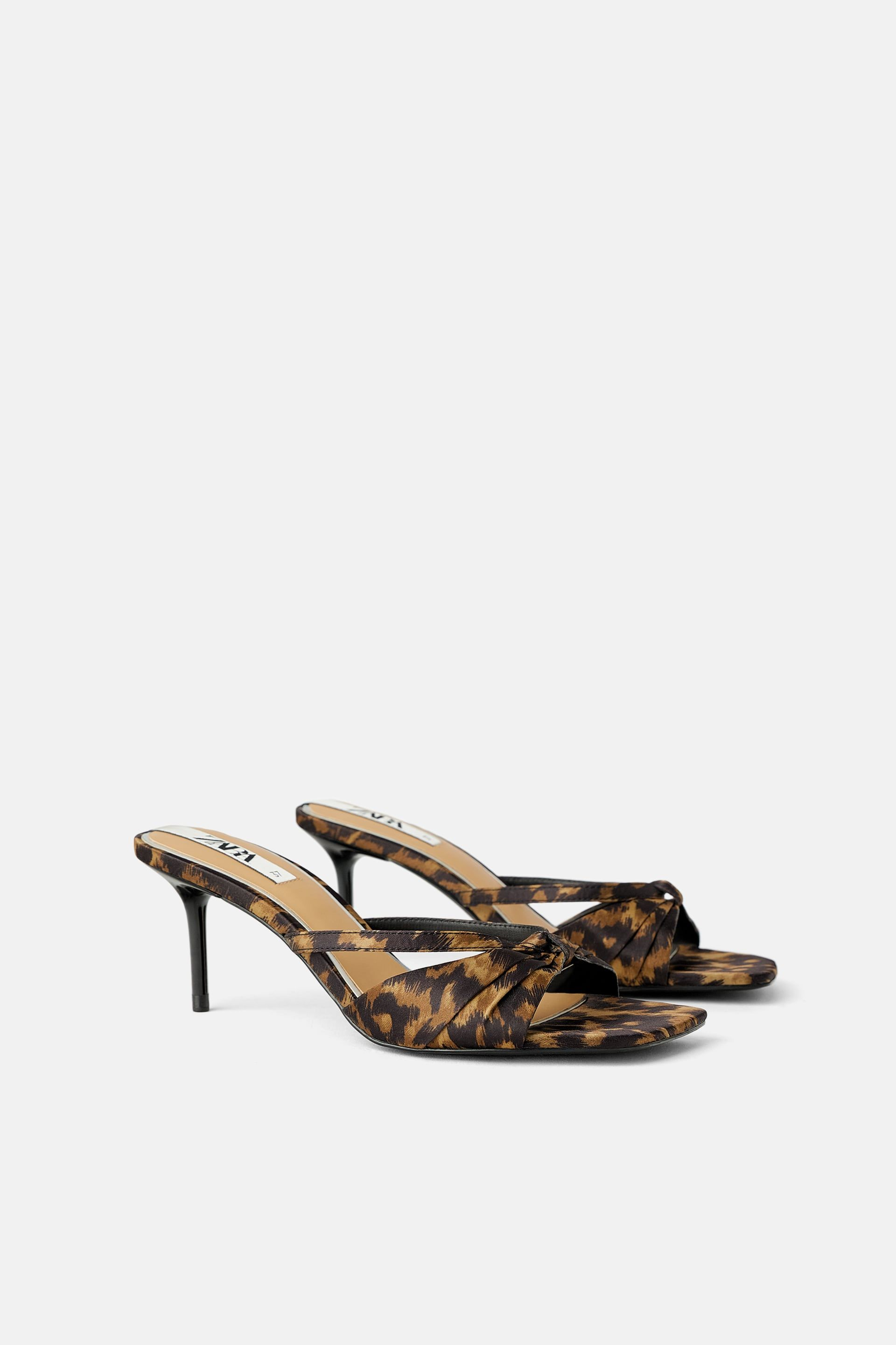 2acdb9b12bd Animal print mid-height heeled sandals in 2019 | Shop: S/S '19 ...