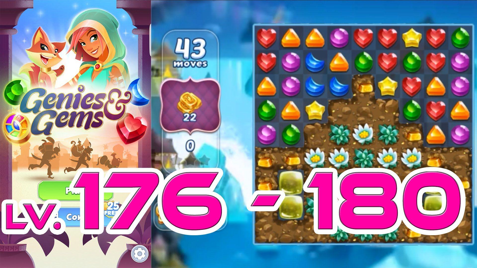 Genies & Gems - Level 176 - 180 (1080p/60fps) | Genies & Gems