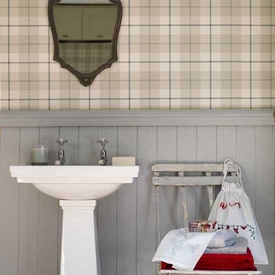 Plaid Bad Wohnideen Badezimmer Living Ideas Bathroom | Bad | Pinterest |  Holzvertäfelung, Gäste Wc Und Farbig