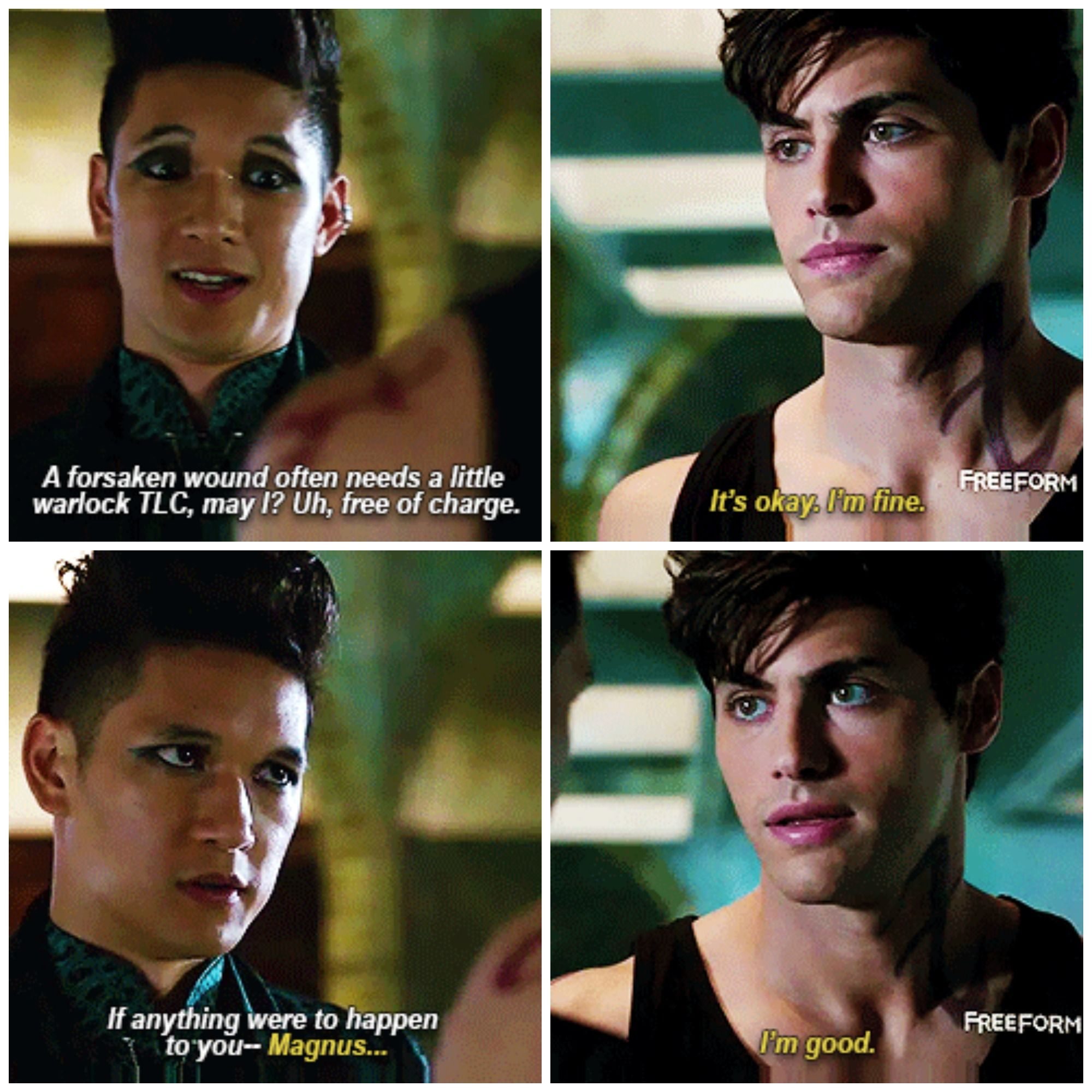 "#Shadowhunters 1x09 ""Rise Up"" - Magnus and Alec"
