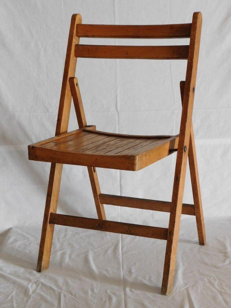 Antique~Vintage Slat Wood Folding Chair - Antique~Vintage Slat Wood Folding Chair In 2018 Home Stuff I Like