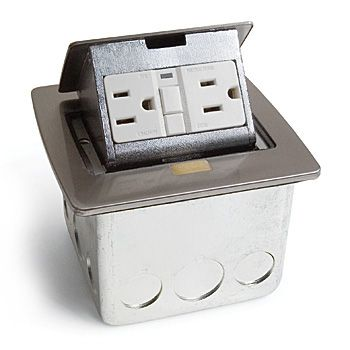 Kitchen Island Electrical Outlet pop-up gfi electrical outlet for countertop | space-saving ideas