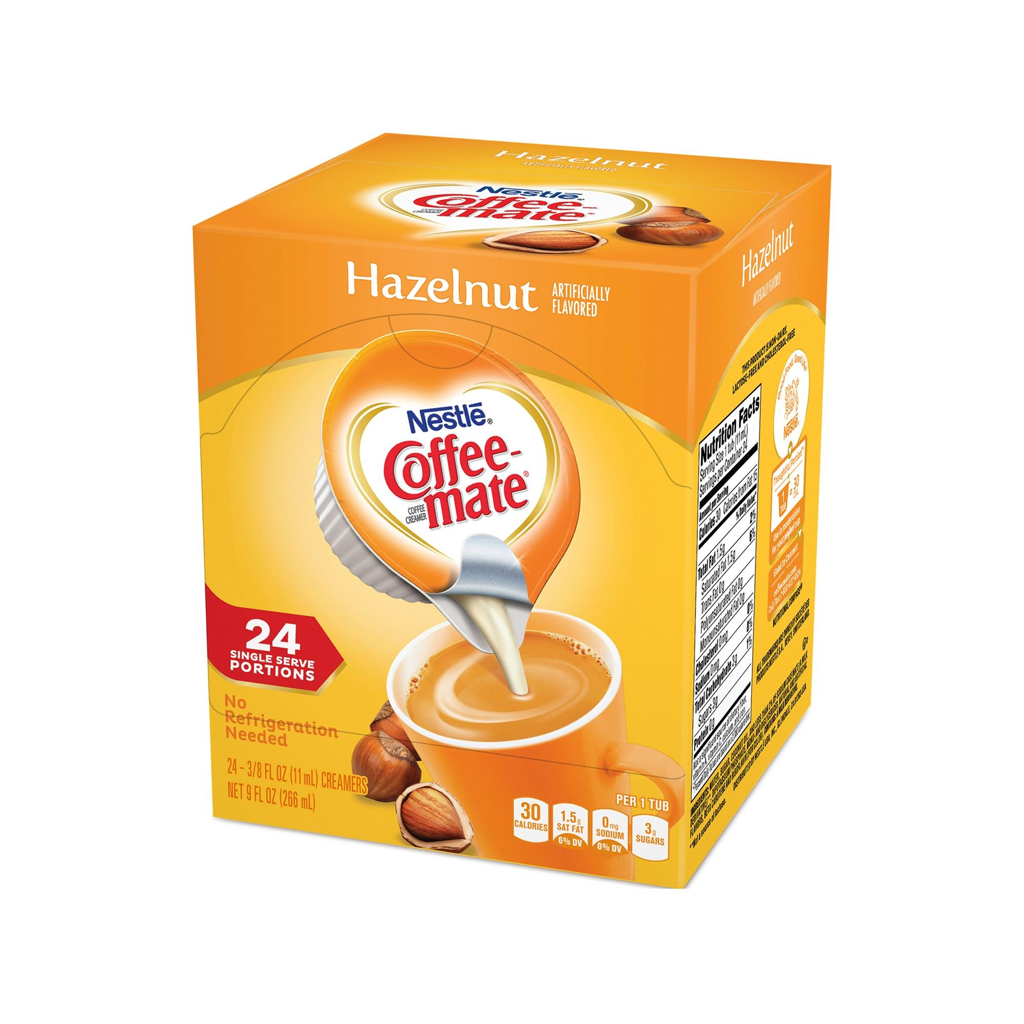 Nestle CoffeeMate Hazelnut Singles Coffee Creamer 24ct