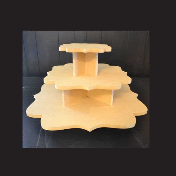 3 tier unpainted cupcake stand, cupcake holders, cupcake tower ...