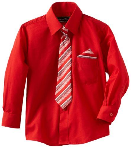American Exchange Little Boys' Little Dress Shirt With Tie And ...