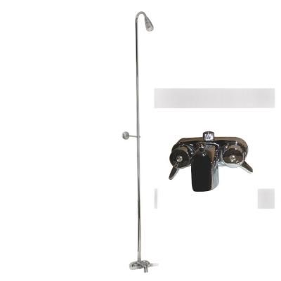 Pegasus 2-Handle Claw Foot Tub Faucet without Hand Shower with Riser ...