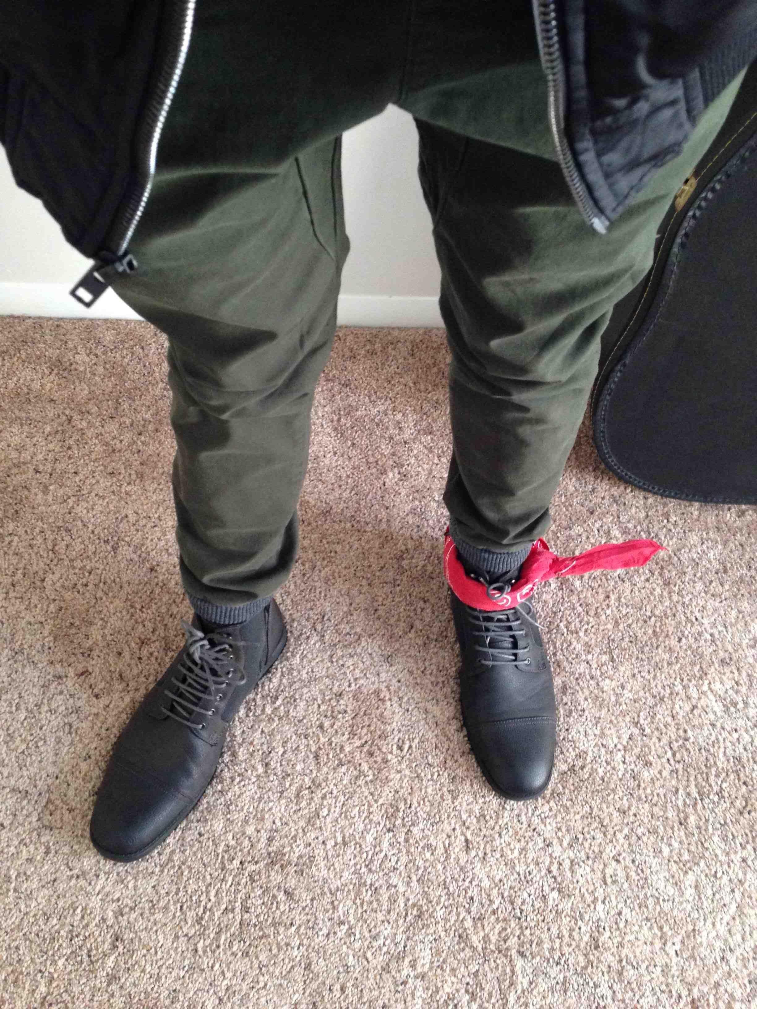 Bandana tied around ankle