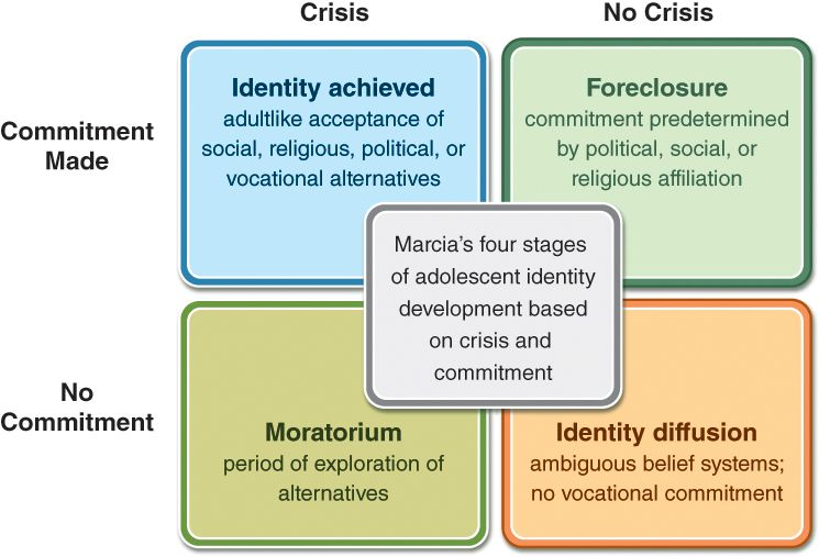 Marcia\u0027s four states of identity development Print this - vocational development stages