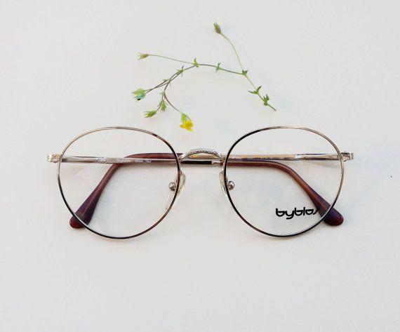 6ea1546d1af 80s BYBLOS frames   Vintage rounded Eyeglasses   by Skomoroki ...