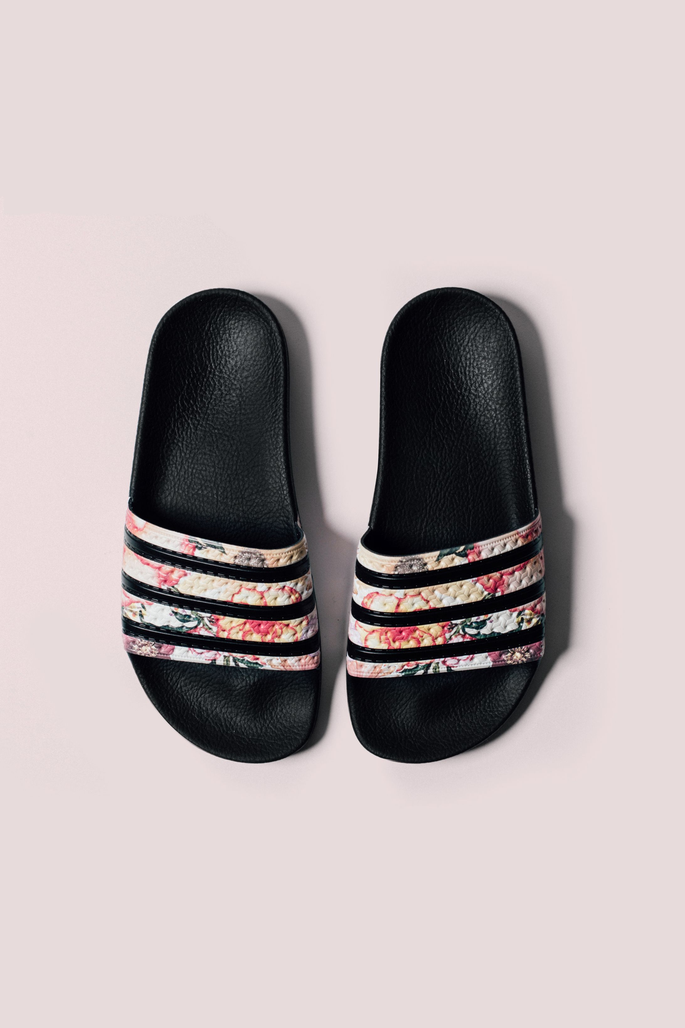 dab6bd2f9d912 Adidas Originals x Farm Women s Adilette Slides  Adidas  Adilette  SlipOns   Sandals  Fashion  Streetwear  Style  Urban  Lookbook  Photography  Footwear  ...