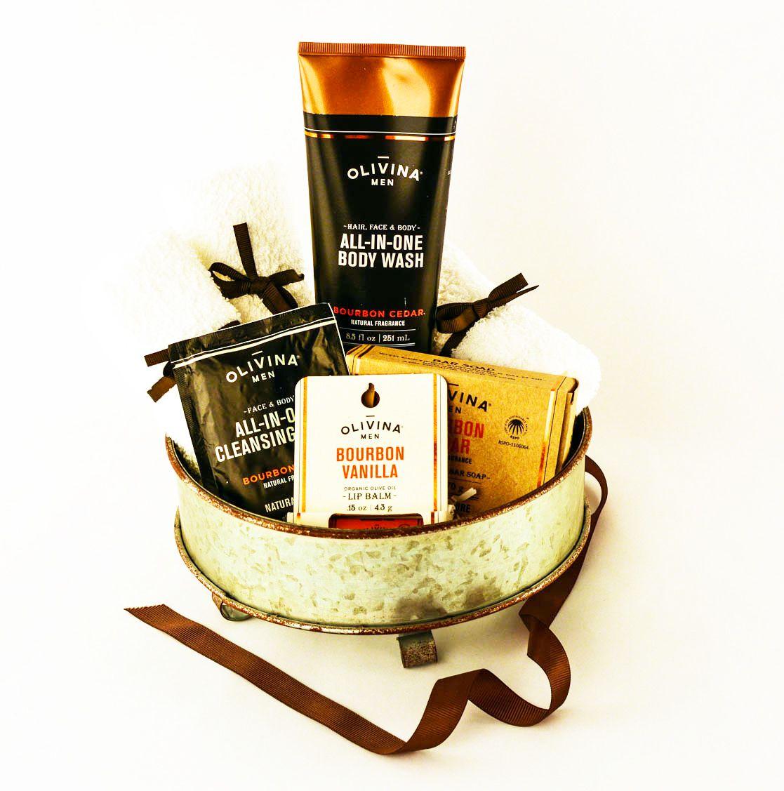 Bourbon spa gift basket baskettude gift baskets with