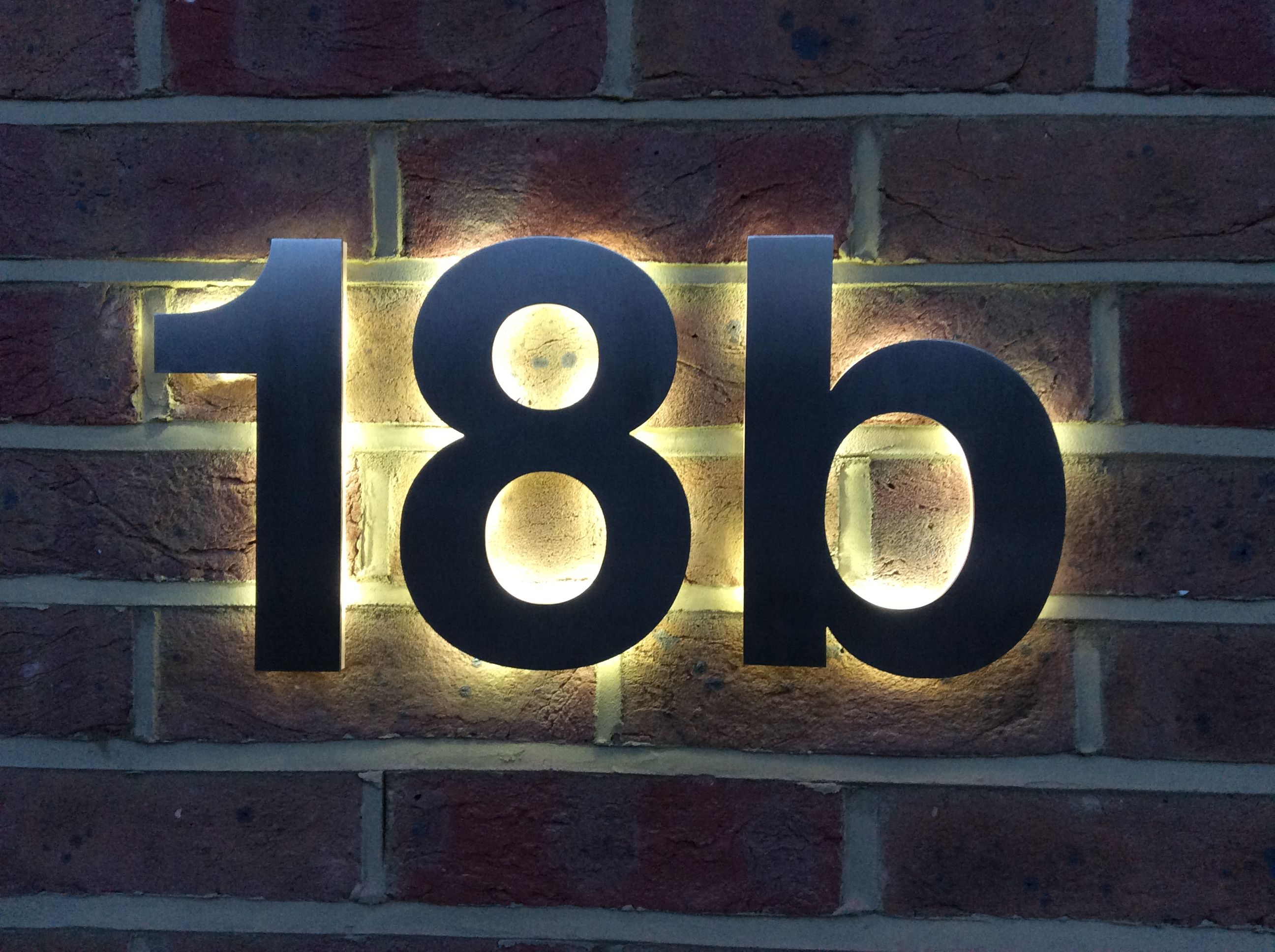 Our latest design solution for a LED backlit house number based