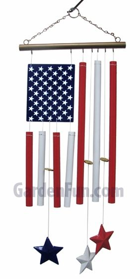 Hope And Freedom Americana Wind Chimes Set Of 2 Only 14 99 At Garden Fun Wind Chimes Americana Home Decor Diy Wind Chimes