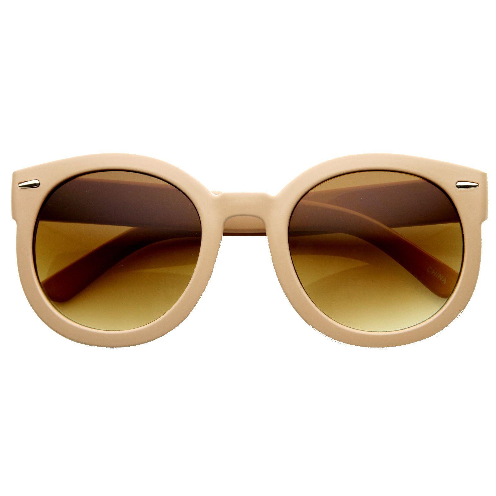 7f3b00808f4 Womens Designer Round Oversize Retro Fashion Sunglasses 8623