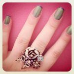 #color #nail #green #purple