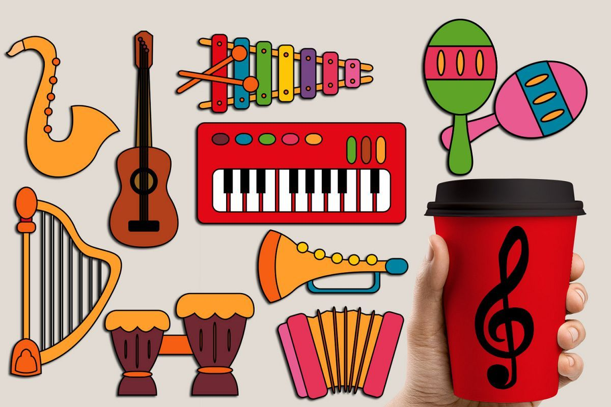 Music Instruments Graphics And Illustrations 74406 Illustrations Design Bundles Illustration Design Art Bundle Graphic Design Assets