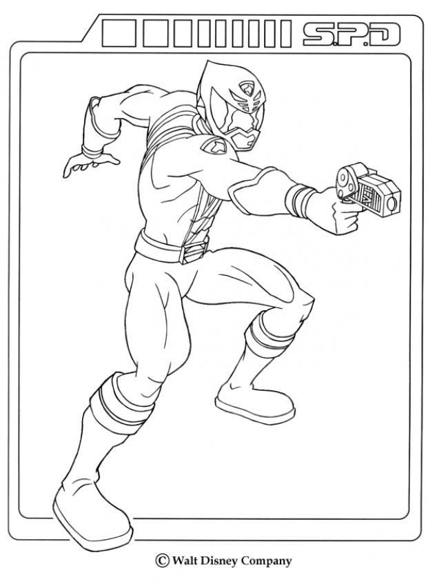 Power Ranger gunshot coloring page. Enjoy the wonderful world of ...