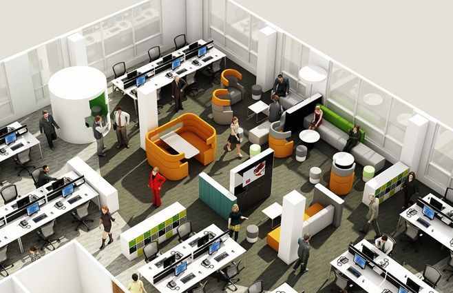Agile Working Examples Office Layout Plan Office Space Planning Office Design