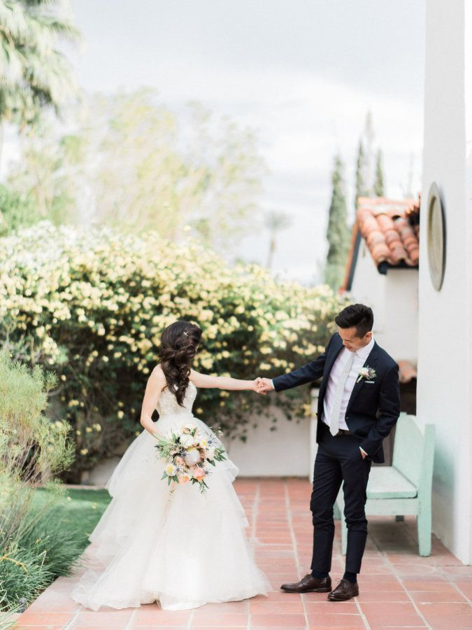 Sweet first look: http://www.stylemepretty.com/2016/06/30/this-couple-gave-guests-the-donut-bar-of-our-dreams/ | Photography: Honey Honey Photography - http://www.hoooney.com/