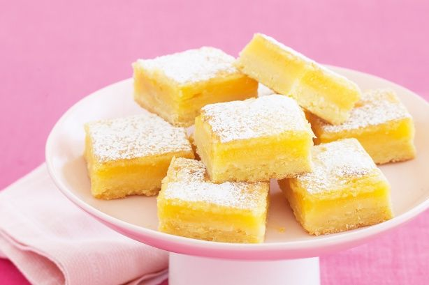Lemon delicious slice   Homemade Heaven   Almond recipes
