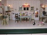 My Sorta 40's Kitchen, it was featured in the Miniature Gazette Sept./Oct. 2002. They even used the article I wrote to go with it! Quite an honor for me!