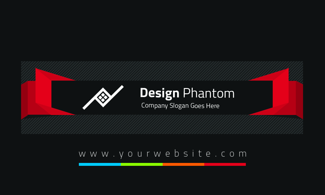 Black Red Green Mix Business Card For Entertainment Field