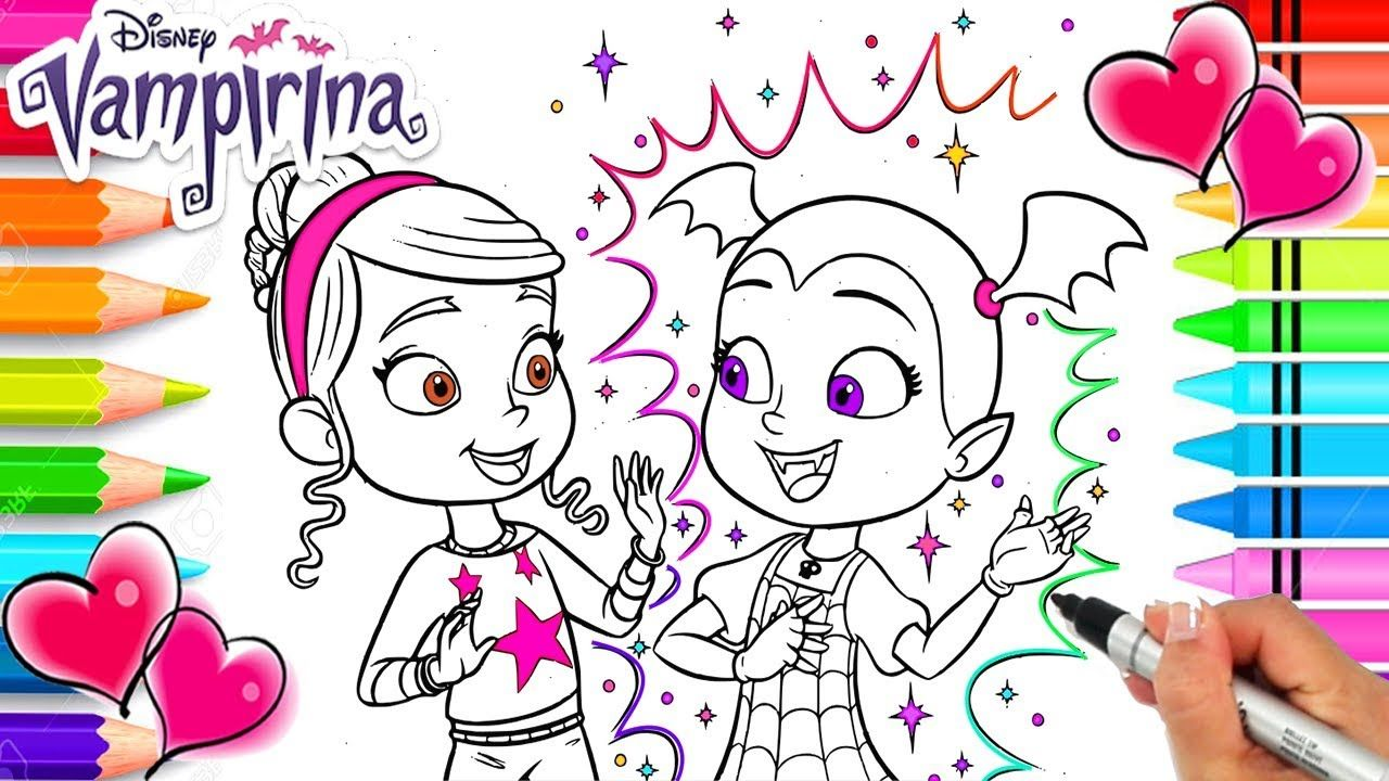 Vampirina And Her Friend Poppy Coloring Page Vampirina Coloring